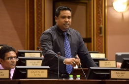Maldives Development Alliance MP Mohamed Ismail pictured during a parliament sitting. FILE PHOTO/PARLIAMENT SECRETARIAT