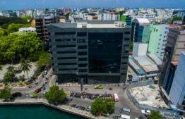 Aerial view of Maldives Monetary Authority (MMA). PHOTO/MIHAARU