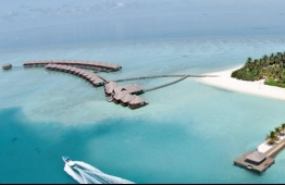 Aerial view of a resort in Maldives. PHOTO: KUONI