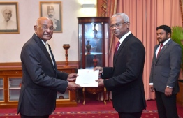 Former foreign minister Ahmed Naseem appointed as Minister at the President's Office. PHOTO/PRESIDENT'S OFFICE