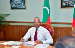 President Ibrahim Mohamed Solih. The President ratified amendments brought to nullify the foreign ownership in Maldives on Tuesday. PHOTO: PRESIDENT'S OFFICE