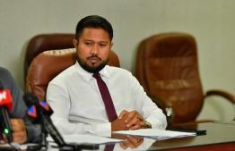 Permanent Secretary for Ministry of Islamic Affairs Musab Musthafa. PHOTO: HUSSAIN WAHEED / MIHAARU