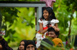 June 4, 2019, Male' City: Spectators watch the cultural parade held on the occasion of Eid al-Fitr. PHOTO: HUSSAIN WAHEED / MIHAARU