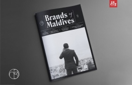 The cover page of the first issue of Brands of Maldives. PHOTO: MIHUSAN ABDUL GHANEE