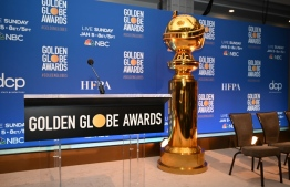 Golden Globe trophies are set on stage ahead of the 77th Annual Golden Globe Awards nominations announcement at the Beverly Hilton hotel in Beverly Hills on December 9, 2019. (Photo by Robyn BECK / AFP)