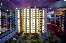 A model of an apartment complex. PHOTO/MIHAARU
