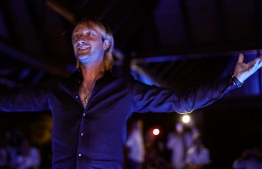 Evgeni Plushenko performing at Jumeirah Vittaveli. PHOTO: JUMEIRAH VITTAVELI