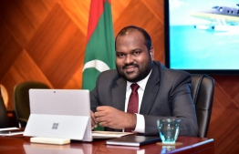 tourism minister ali waheed addressed the UNWTO's virtual meeting